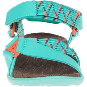 Merrell Around Town Sunvue Woven Sandals Dame turquoise